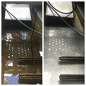 sump basin cell before and after comparison