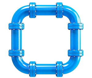 closed loop pipe system commercial water filters