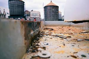 Rusted Cooling Tower water treatment system