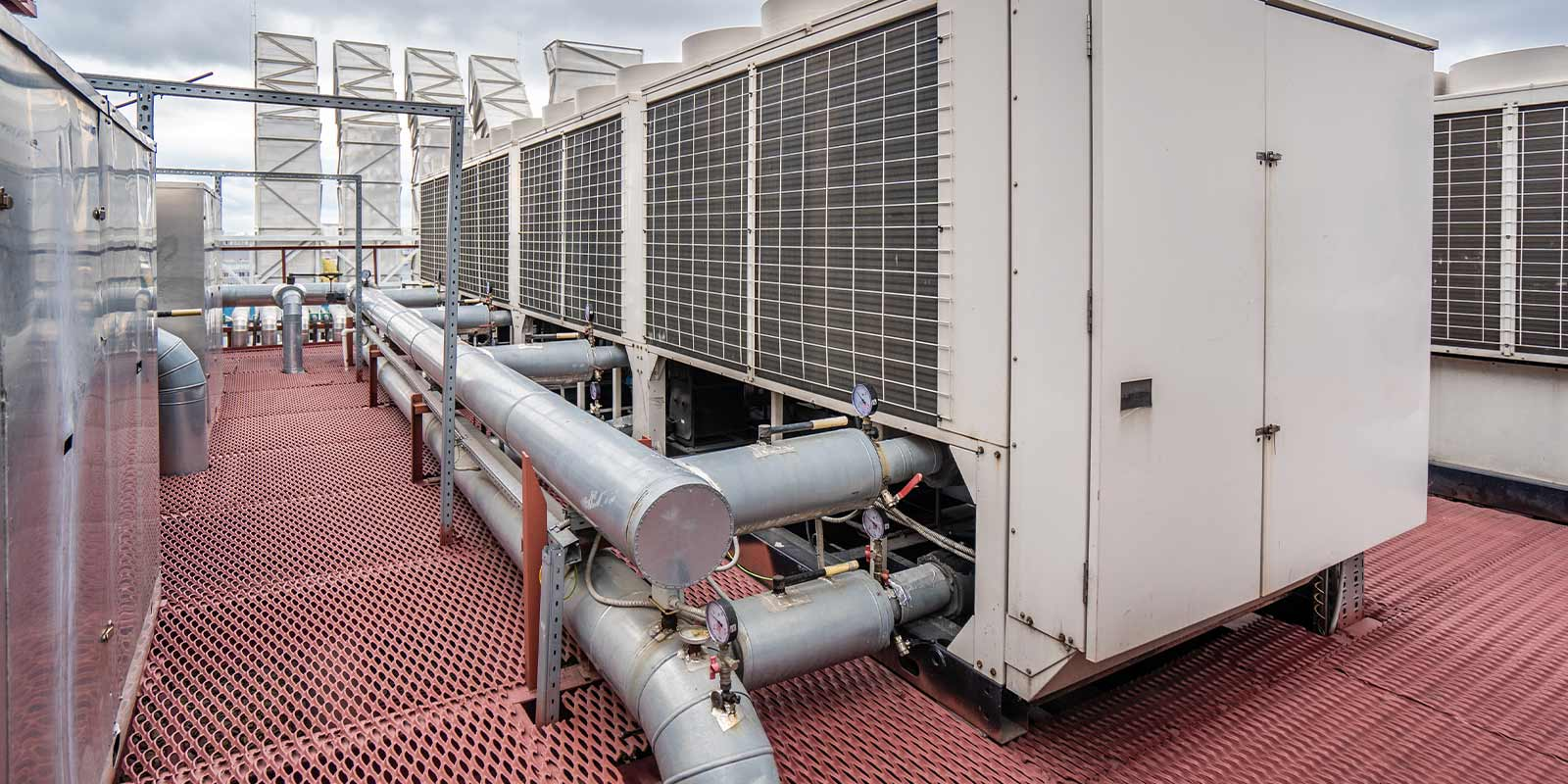 large rooftop glycol cooling system