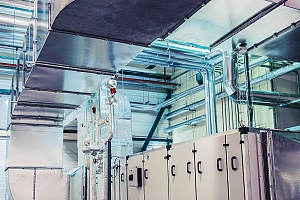 large silver glycol cooling system