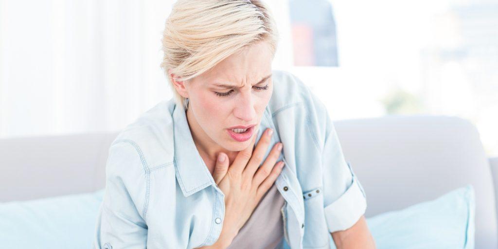 Legionella bacteria infected victim having breathing difficulties