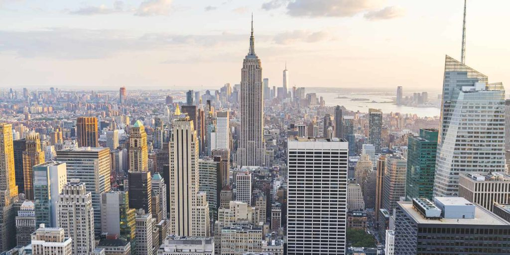 New York City skyline. New York City has set forth regulations regarding the operation of cooling towers