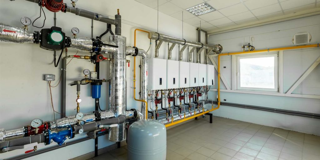 a boiler water system receiving water treatment services