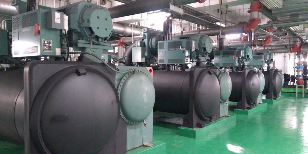 a chiller system that is receiving commercial HVAC water treatment services