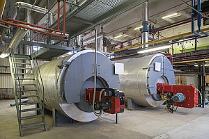 commercial boilers that are being serviced by a HVAC water treatment company