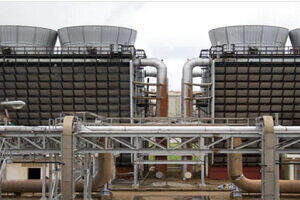 Cooling Towers Sets on Building Top
