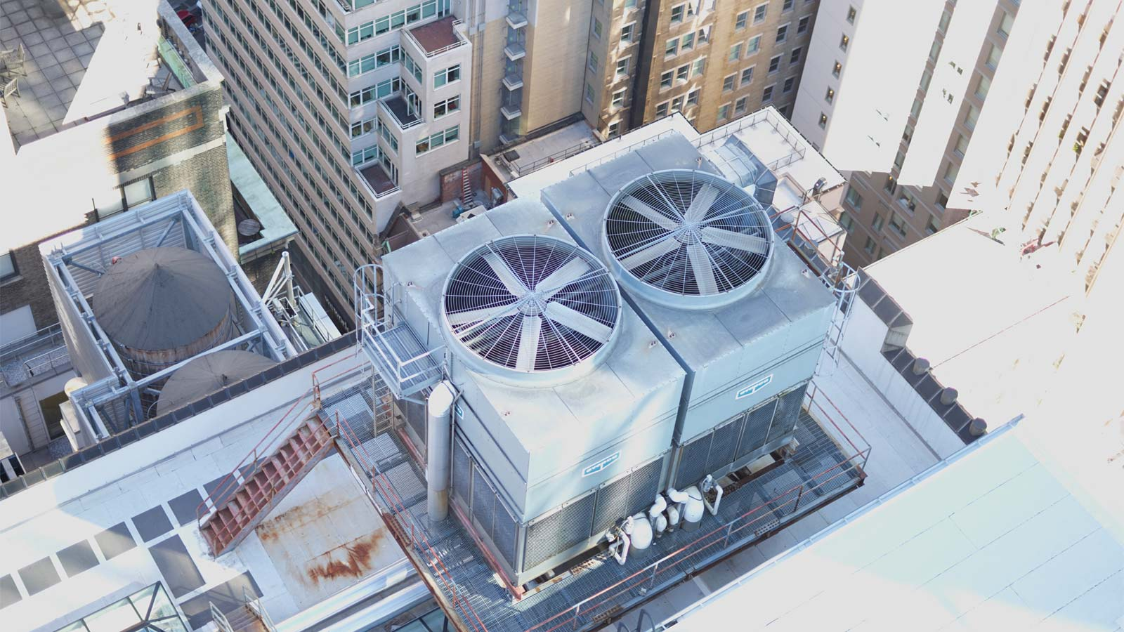 a cooling tower in NYC that is starting up during the spring