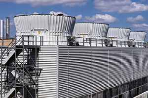 Large industrial cooling towers. Cleaning and maintaining such industrial cooling tower is a complex process
