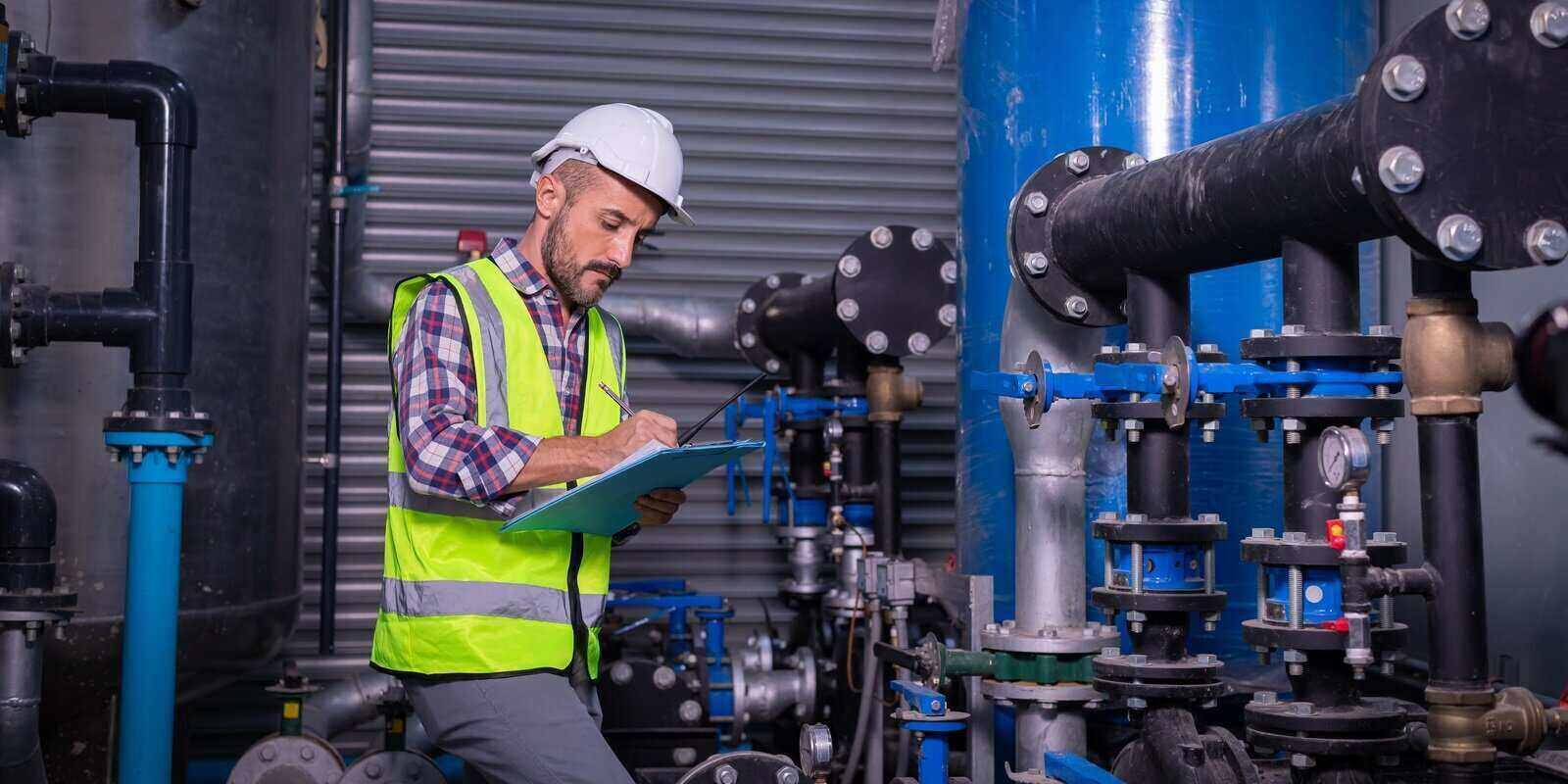 industry engineer worker wearing safety uniform