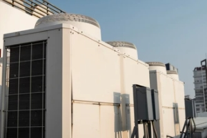 cooling tower on the building top