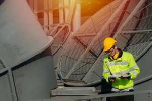 engineering inspecting cooling tower