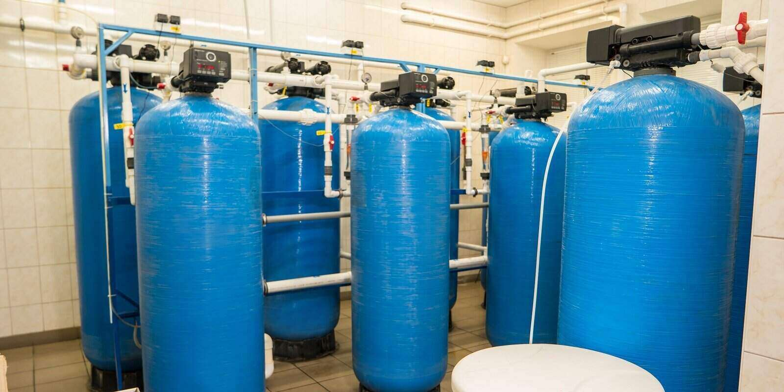 water filters at the plant